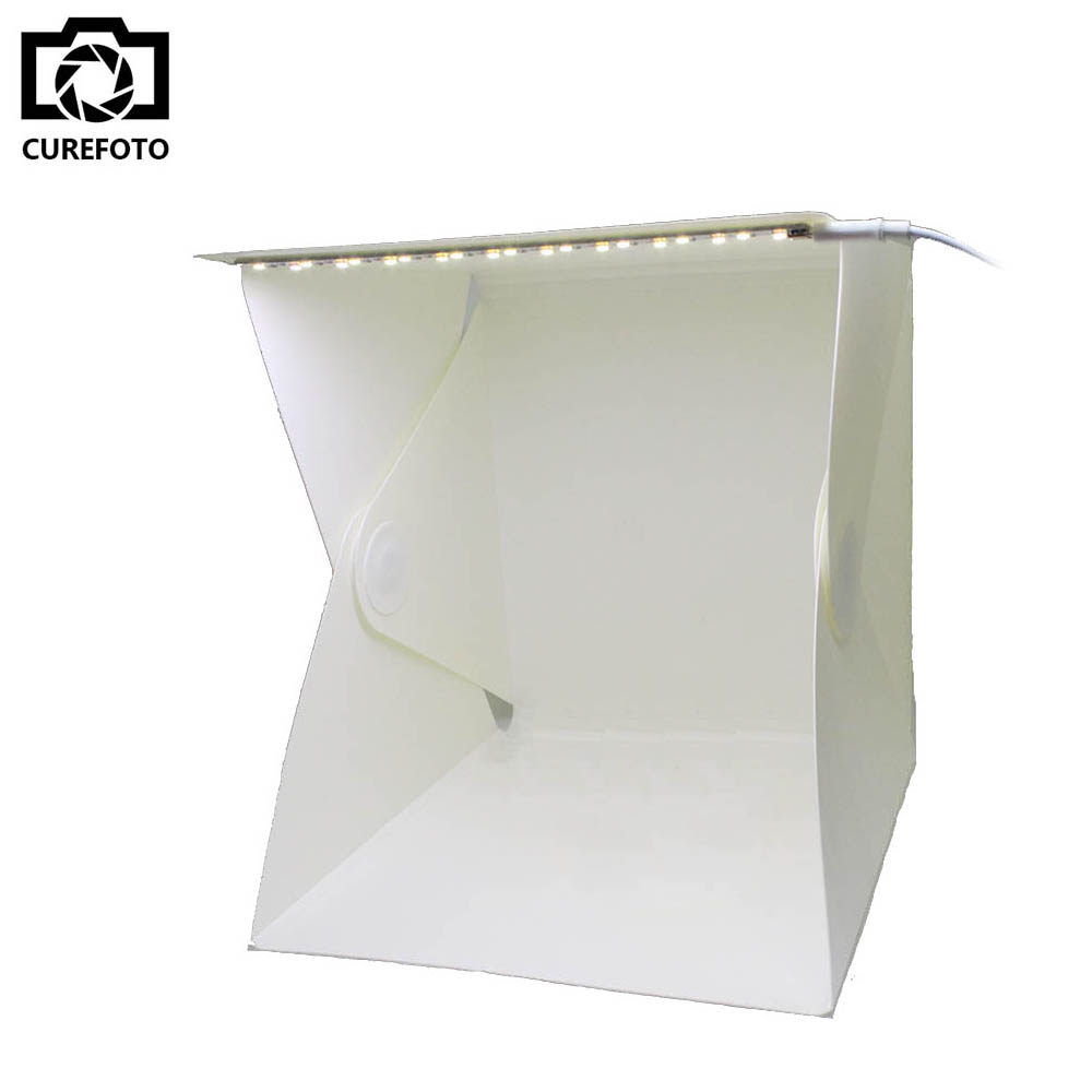 Portable Folding Lightbox Photography Studio Softbox LED Light Soft Box for iPhone Samsang HTC Smartphone font