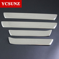 Door Sill Car Accessories Threshold For Toyota Fortuner Hilux SW4 2016 2017 2018 2019