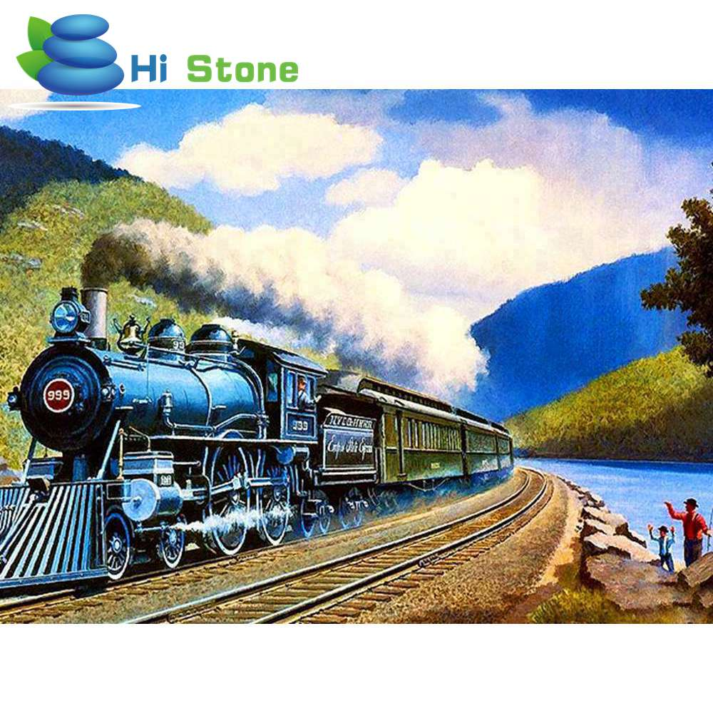 5D Diy алмазов картина вышивки крестом Поезд полный квадратный алмаз вышивка кристалл ремесленных подарки Strass фотографии