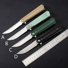 High quality outdoor G10 composite fiber knives 9cr18 stainless steel high hardness gift collection folding knife