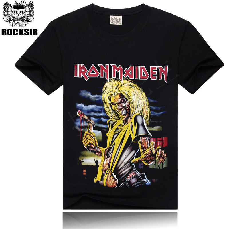 Iron maiden brand 3d t shirt new style 2017 heavy for Thick t shirts brands