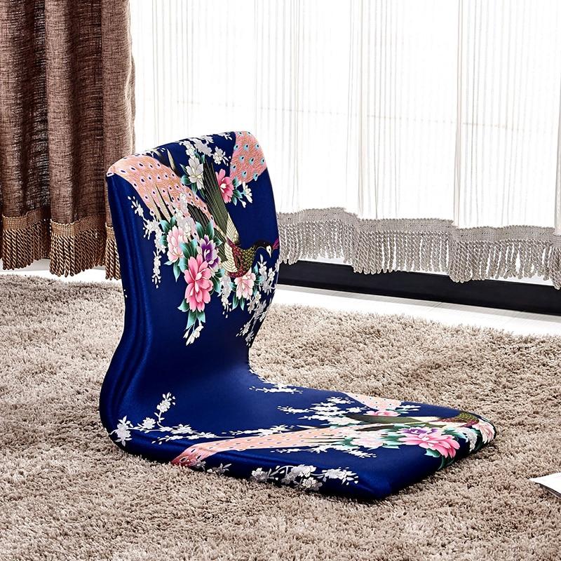 (4pcs/lot) Oriental Asian Furniture Meditation Backrest Chair Living Room Japanese Style Zaisu Tatami Floor Legless Chair Design japanese oriental om 4ik25gn sw