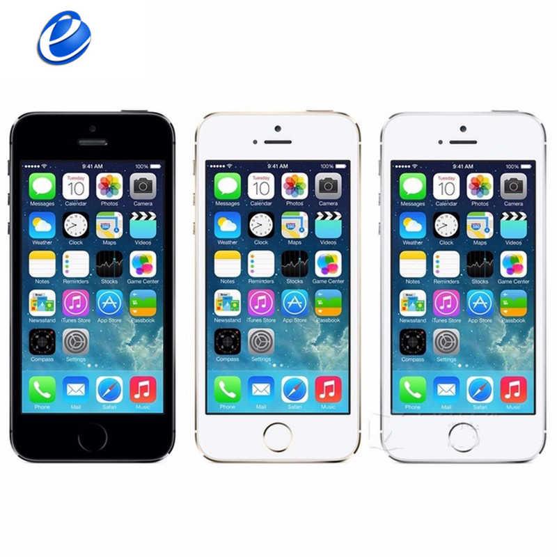 """Apple iPhone 5 S Di Động Ban Đầu Điện Thoại Dual Core 4 """"IPS Sử Dụng Điện Thoại 8MP 1080 P Điện Thoại Thông Minh GPS IOS iPhone5s Unlocked Điện Thoại Di Động"""