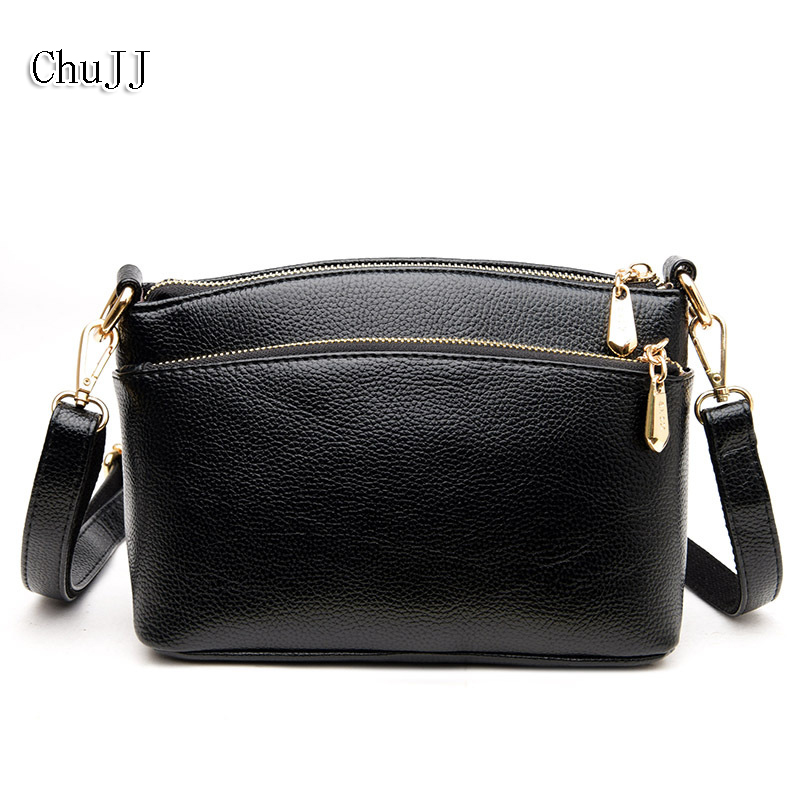 Chu JJ Womens Genuine Leather Handbags Fashion Shell Shoulder CrossBody Bags Ladies Women Bags Bolsas Feminina