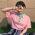 2016 новые Летние Женщины Футболку Harajuku опрятный ветер Вышивка нагрудные Повседневная Коротким Рукавом Женщины Футболки Топы G251