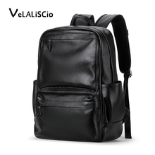 VELALISCIO Men Backpac Genuine Leather Backpack Laptop Waterproof Male School Bag High Quality Men Daypacks Casual Travel Bag