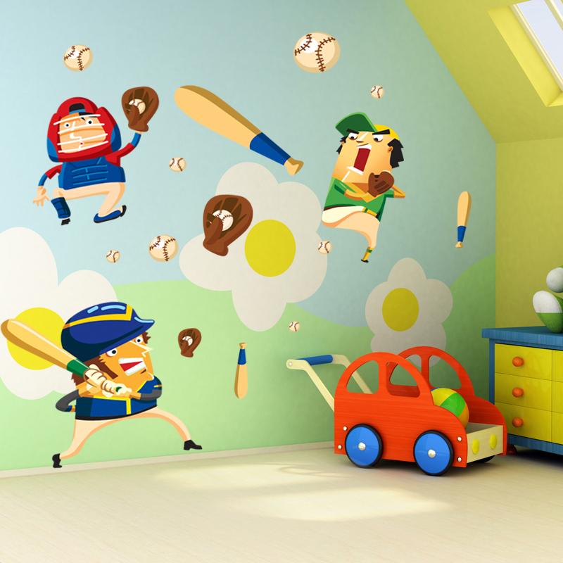 caja decorativa de bisbol deportes etiqueta de la pared decoracin para el hogar para nios habitacin