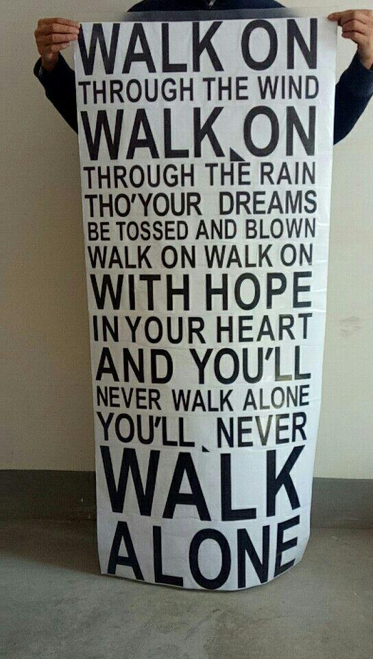 Lyric lyrics you ll never walk alone : You Will Never Walk Alone Quotes lyrics Wall Sticker for home ...