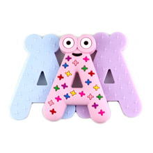 Silicone Teether Alphabet New Pattern Baby Letter Frog Animal Chews Healthy Products Help Teeth Grow