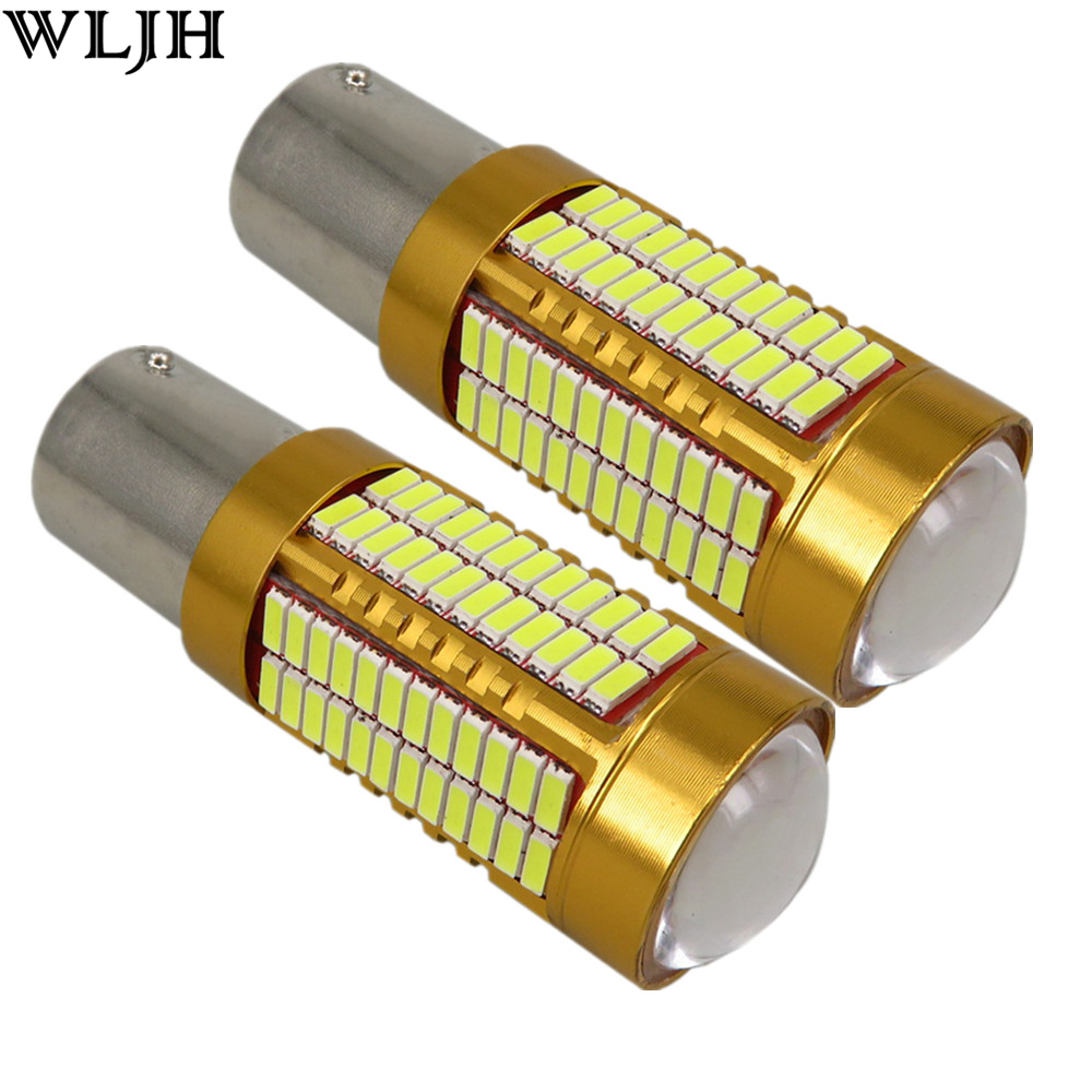 WLJH 2x Canbus 20W 1156 BA15S P21W LED Bulb 4014SMD Car Backup Reverse Light Lamp for BMW 228i 320i 328d 328i 335i M3 X1 X4 2015 wljh 2x canbus led 20w 1156 ba15s p21w s25 bulb 4014smd car lamp drl daytime running light for volkswagen vw t5 t6 transporter