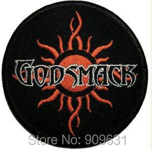 GODSMACK IRON-ON PATCH TRIBAL SUN LOGO NEW!