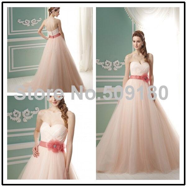 organza pleated sweetheart neckline bridal custom made floor length long wedding gown design px267 peach colored wedding dresses