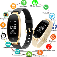 Smartwatch S3 Smart Watch Women Ladies Heart Rate Monitor Pedometer Fitness Band Bluetooth watch connected Android IOS Phone M3P