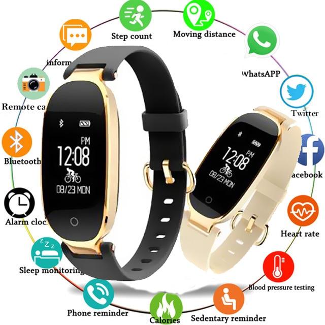 Smartwatch S3 Smart Vigilanza Delle Signore Delle Donne Monitor di Frequenza Cardiaca Contapassi Fitness Fascia della vigilanza di Bluetooth collegato Android IOS Telefono M3PSmartwatch S3 Smart Vigilanza Delle Signore Delle Donne Monitor di Frequenza Cardiaca Contapassi Fitness Fascia della vigilanza di Bluetooth collegato Android IOS Telefono M3P
