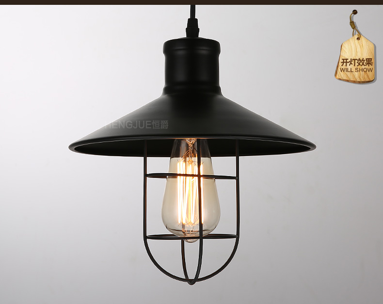 ФОТО Free shipping Black Iron vintage pendant light Edison decoration spherical pendant lamps loft bar cafe lighting