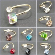 Unique Design Fashion Elegant Austrian Crystal Rhinestone Wedding Ring Valentines Day Gift Rings For Women Girls