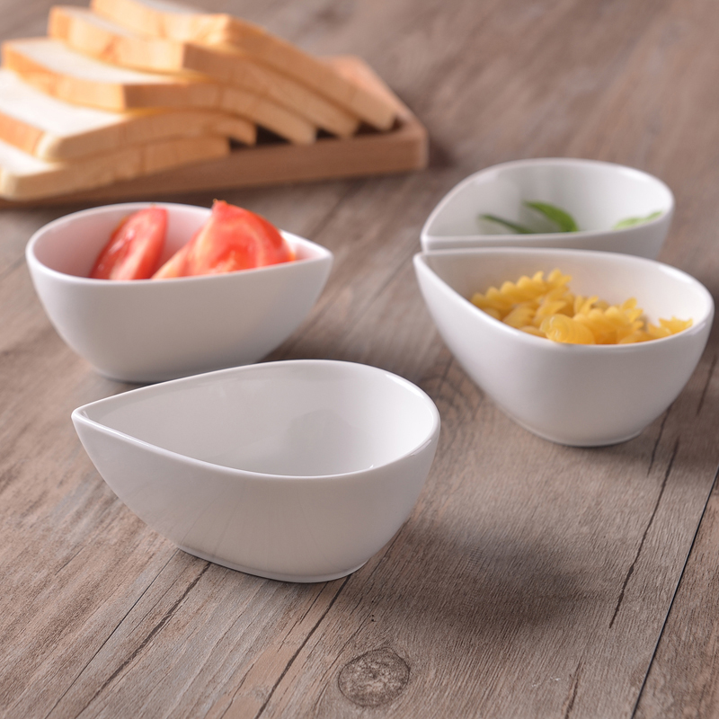 Porcelain dish for dipping sauce white appetizer serving dish pudding bowl in Bowls from Home Garden