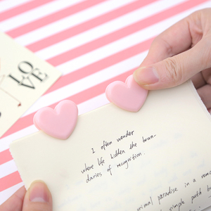 Image 3 - TUTU 100 sztuk śliczne miłość, serce, różowe kolor mały papier klip rzemiosło plastyczne klipsy na notatki DIY Photo zaciski dekoracyjne biuro szkoła H0259