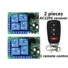 AC85V 220V4 قناة 433MHZ المتلقي و EV1527 تعلم التحكم عن بعد