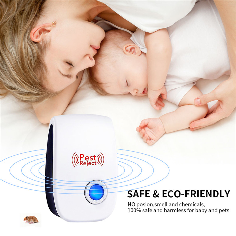 Pest Control Electronic Ultrasonic Anti Mosquito Insect Rodent Rat Mouse Repeller Mice Killer Non-Toxicity Tastelessness (5)