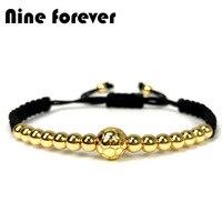 Nine forever football Charm Braiding Macrame Bracelets for women baseball Bracelet Men jewelry pulseira masculina feminina