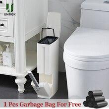 UNTIOR 6L узкие пластиковая урна для мусора комплект туалетная щетка для уборки в ванной дежатель для мусоного ведра для мусора ведро для мусора держатель мешков для мусора