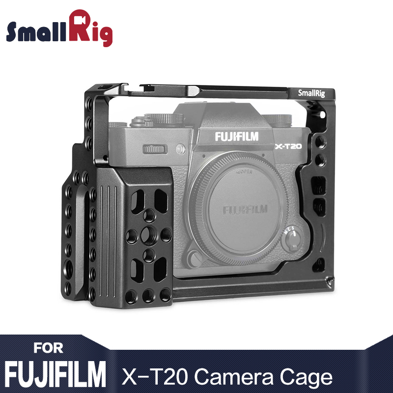 SmallRig X-T20 Dual Camera Cage For Fujifilm X-T20 with NATO Rails, Cold Shoes, 1/4 and 3/8 Threads Form Fitting