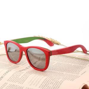Image 2 - BerWer gafas de sol polarizadas de madera para hombre y mujer, lentes de sol de monopatín en capas, de madera, Estilo Vintage Retro