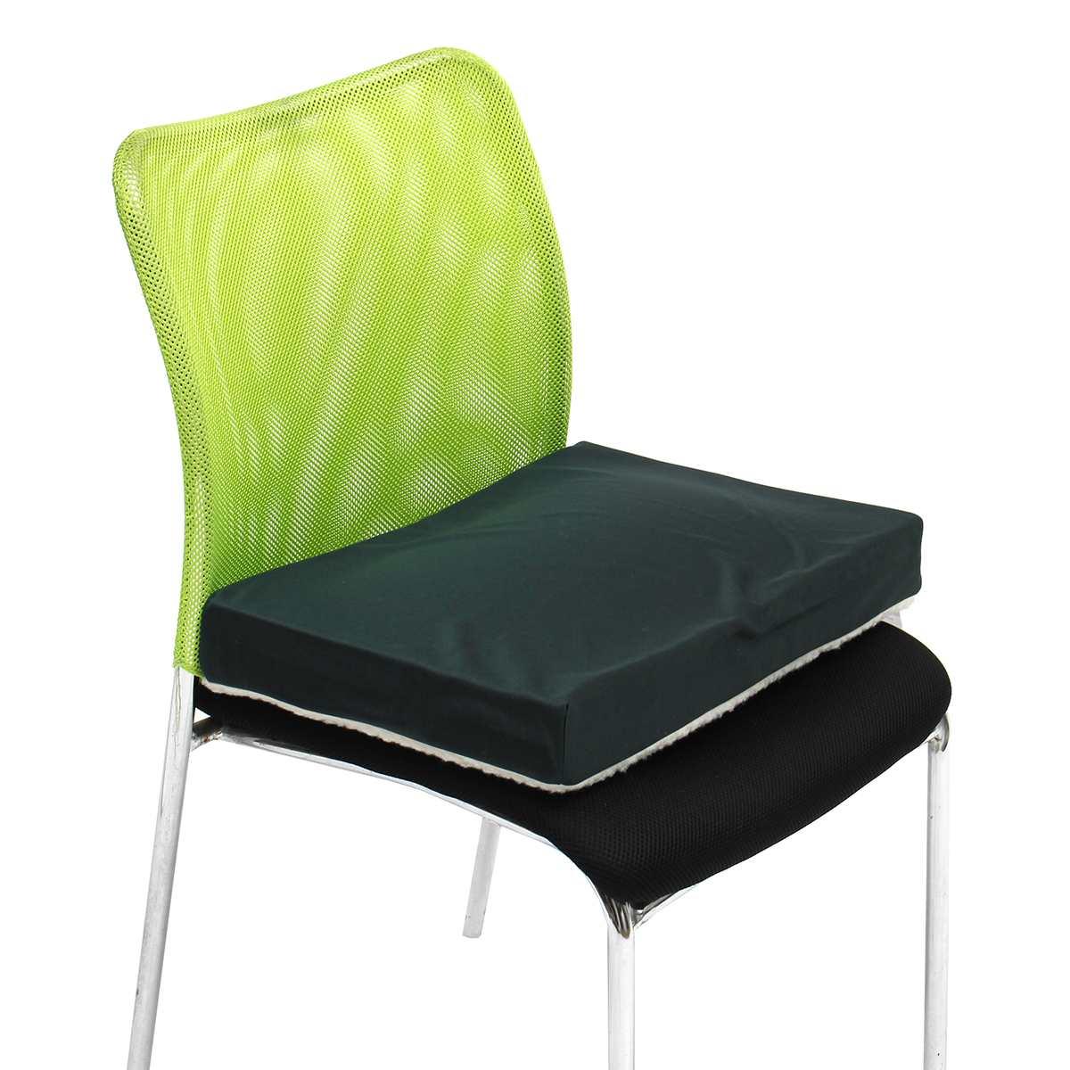 Coussin de siège en mousse à mémoire de forme Gel court en peluche polaire Solution de siège pour fauteuil roulant oreiller pour siège de voiture de bureau - 2