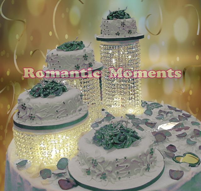 3pcs lot Wedding Cake Stand Crystal cake holder Round Crystal cake     3pcs lot Wedding Cake Stand Crystal cake holder Round Crystal cake stand  wedding centerpiece