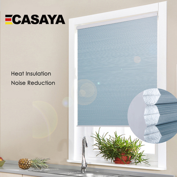Modern Design Push and Pull system stripe cellular blinds honeycomb horizontal window blinds cordless roller blinds for window