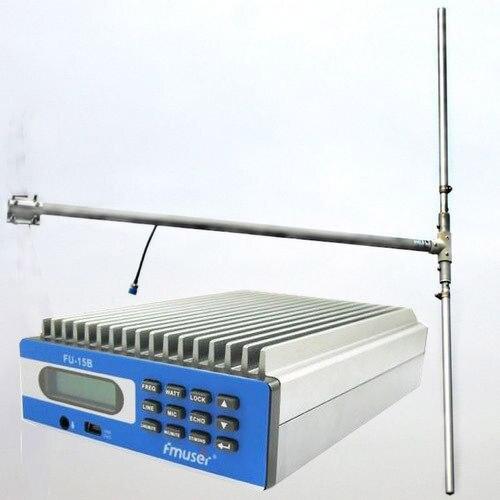 15 Вт PREMIUM SDA-15B CZE-15B FU-15B Профессиональные ПК Управления fm-передатчик + DP100 1/2 волна диполь антенна + мощность kitset