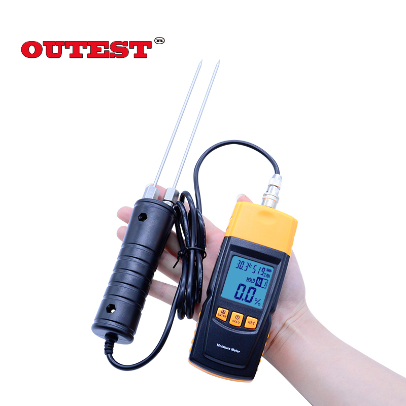 New GM620 Digital LCD Display Wood Moisture Meter 2~70% Humidity Tester Timber Damp Detector portable wood moisture meter digital indoor air quality carbon dioxide meter temperature rh humidity twa stel display 99 points made in taiwan co2 monitor