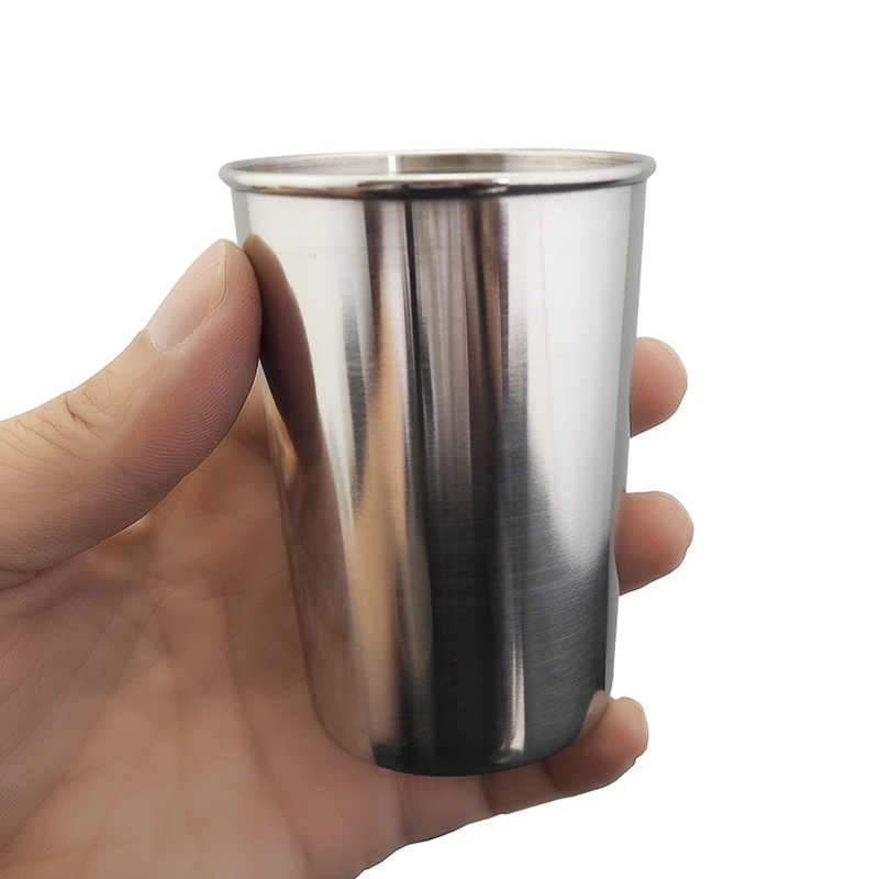 30/ 70/180/320ml Stainless Steel Cover Mug Camping Cup Outdoor Camp Mug Coffee Tea Beer Cup Outdoor Travel Camping Equipment