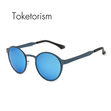 2016 Retro vintage runde edelstahl sonnenbrille männer frauen gafas polarizadas1308