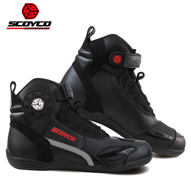 2018 Fashion Motor Equipment SCOYCO Motocross Motorcycle Boots shoe Motorbike Riding Boot Shoes made of Microfiber leather PU ...
