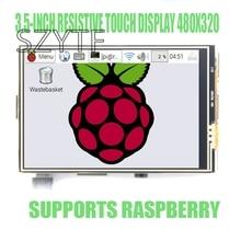 شاشة عرض باللمس مقاوم 3.5 بوصة لطراز Raspberry PI 3 B + أو طراز raspberry pi 2