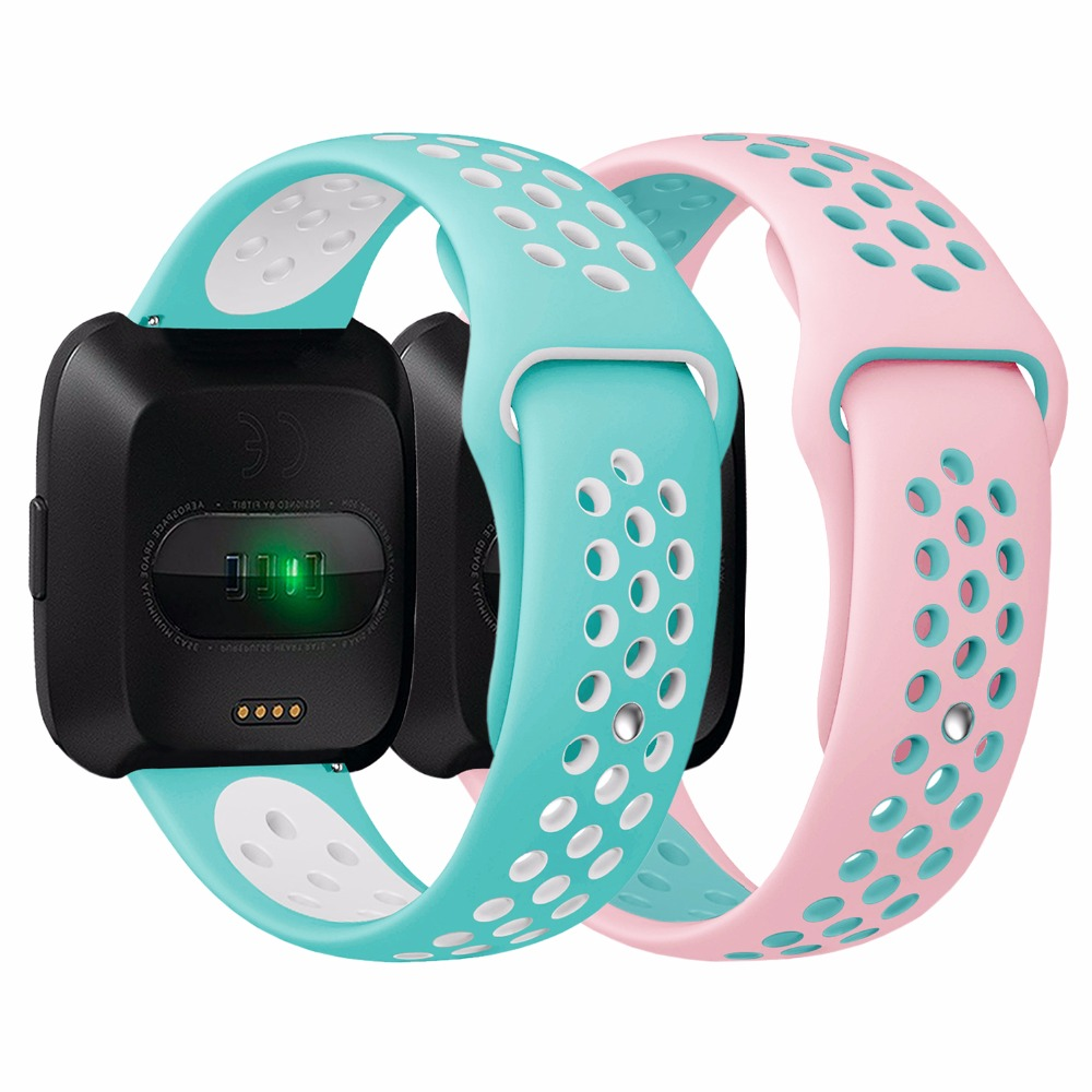 Bemorcabo для Fitbit наоборот, 2 шт. 3 шт. спортивный силиконовый замена дышащая ремешок для Fitbit Versa Смарт-фитнес часы