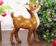Simulation deer  polyethylene&furs deer model funny gift about 11cmx4cmx14cm