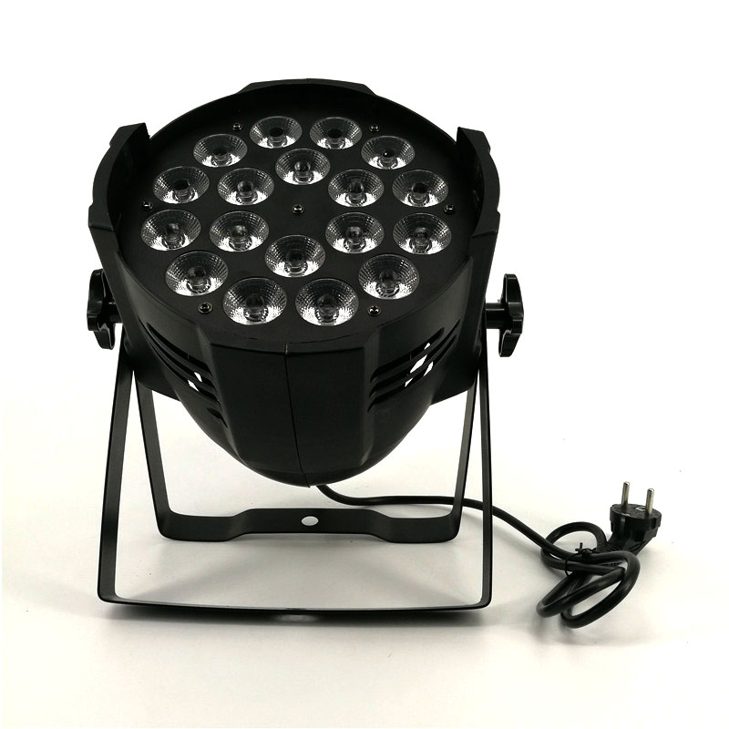 18x18W RGBWA+UV 6in1 led par lights Aluminum alloy Dj Disco Party Events dj projector wash lighting stage lighting free shipping aluminum alloy led par12x18w rgbwa uv and mixed color light wash light for dj disco ktv and party shehds