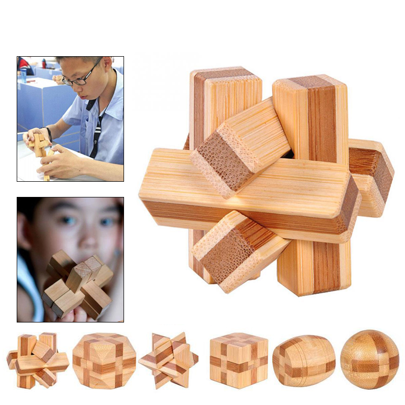 1 шт. бамбуковый развивающий замок 3D игрушка ручной работы для взрослых головоломка игра