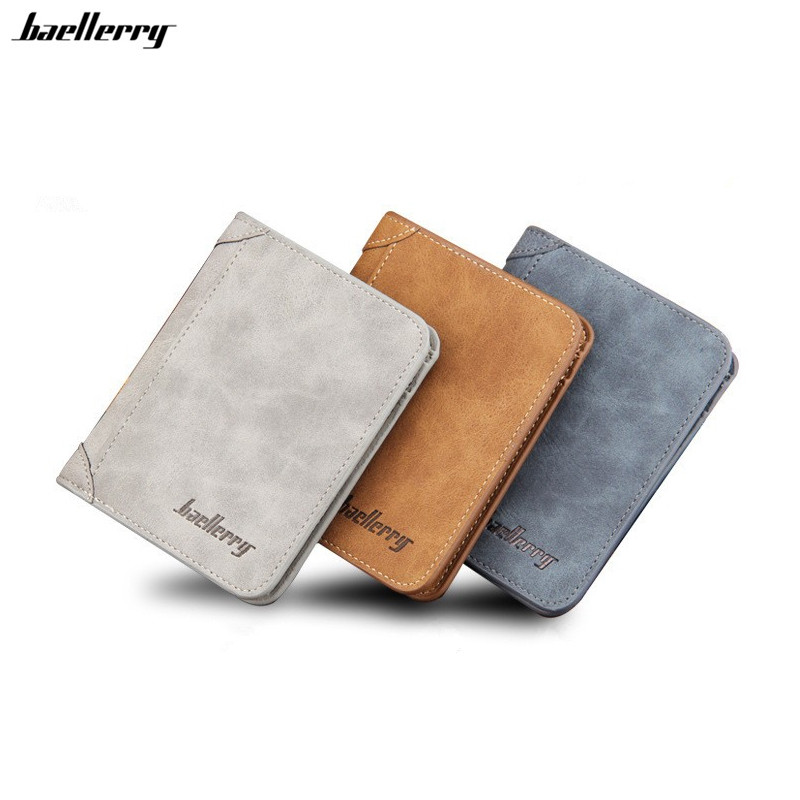 цена New 2015 men wallets famous brand mens wallet male money purses 2 fold with Simple New Design Top Wallet for Man Card Holder