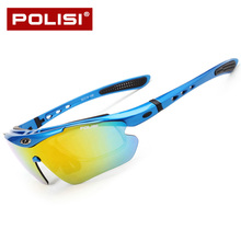 POLISI Gafas Ciclismo Polarized Windproof Anti-UV Anti-impact Men Women Outdoor Sport Mountain Cycling Glasses 5 Lens leilin transparent models protective glasses anti shock gafas seguridad trabajo anti splashing anti uv cycling glasses
