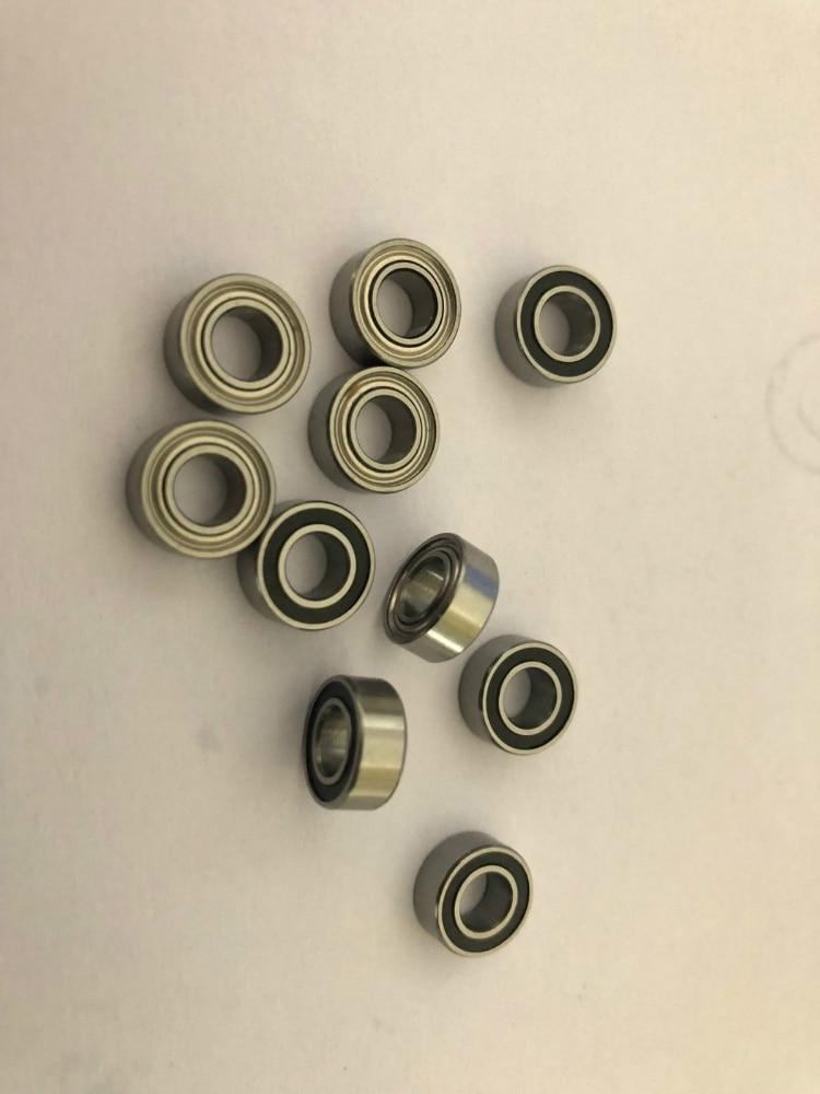 Miniature Metal Bearing Flanged Ball Bearing 10 PCS FR144ZZ 1//8x1//4x7//64 inch