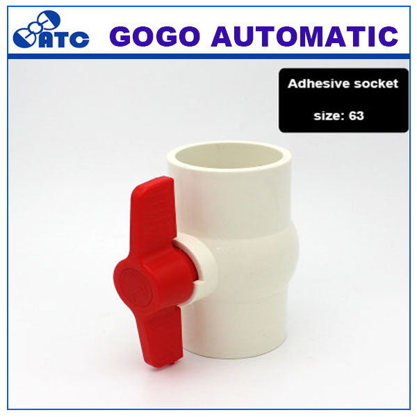 Pvc Pipe Ball Valve Switch Water Flow Controller Water Pipe Fittings 63mm X63mm I D 2 Inch Fitttings