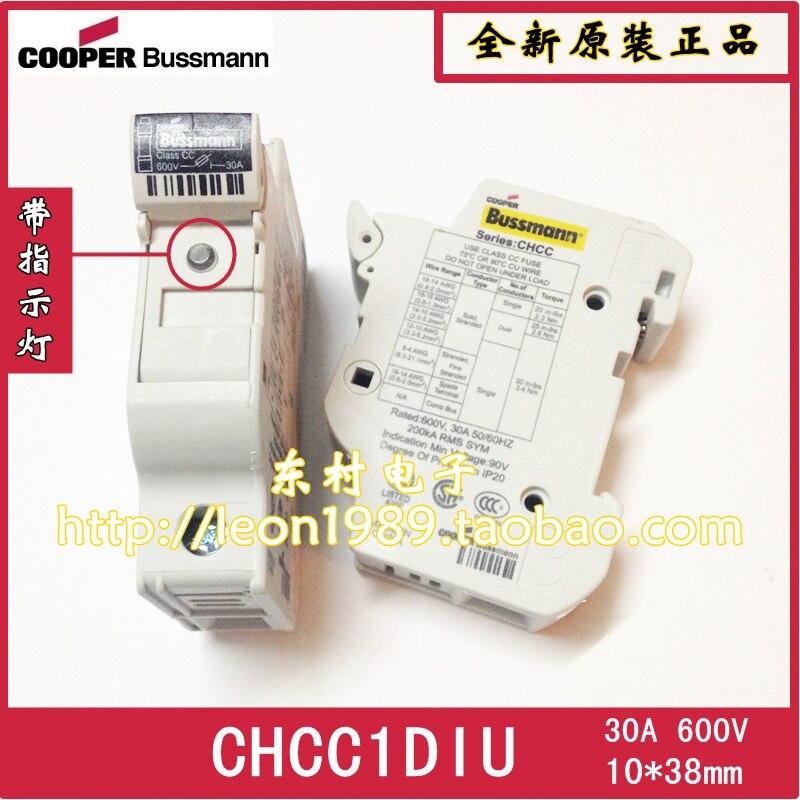 [SA]BUSSMANN CHCC1DIU 600V Fuse holder with indicator 10*38mm 30A 32A 3PCS/LOT