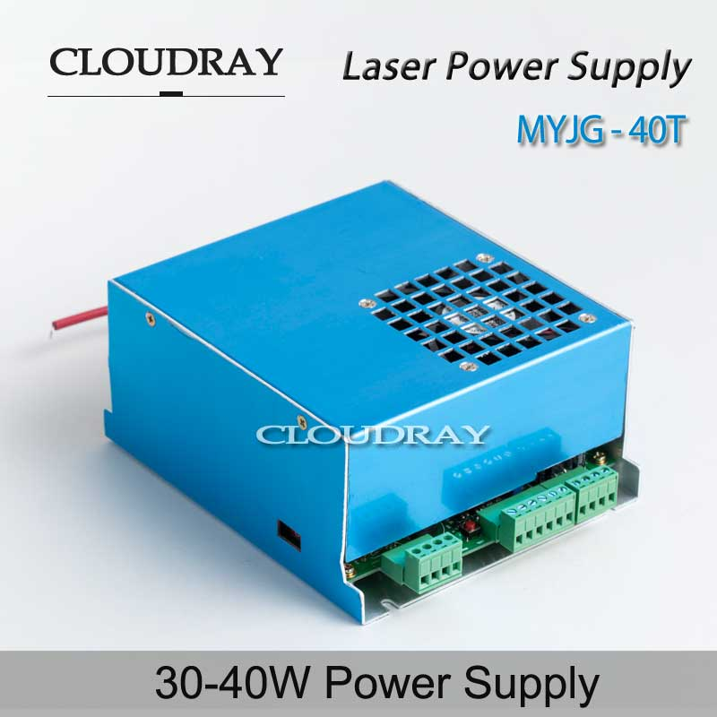 Cloudray CO2 Laser Power Supply 35-50W Adjustable AC 220V / AC 110V  for CO2 Laser Engraving Cutting Machine MYJG-40T