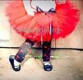 Праздник детские петти туту девушки санта юбка рождество юбки красный с черным бантом MOQ 1 шт.