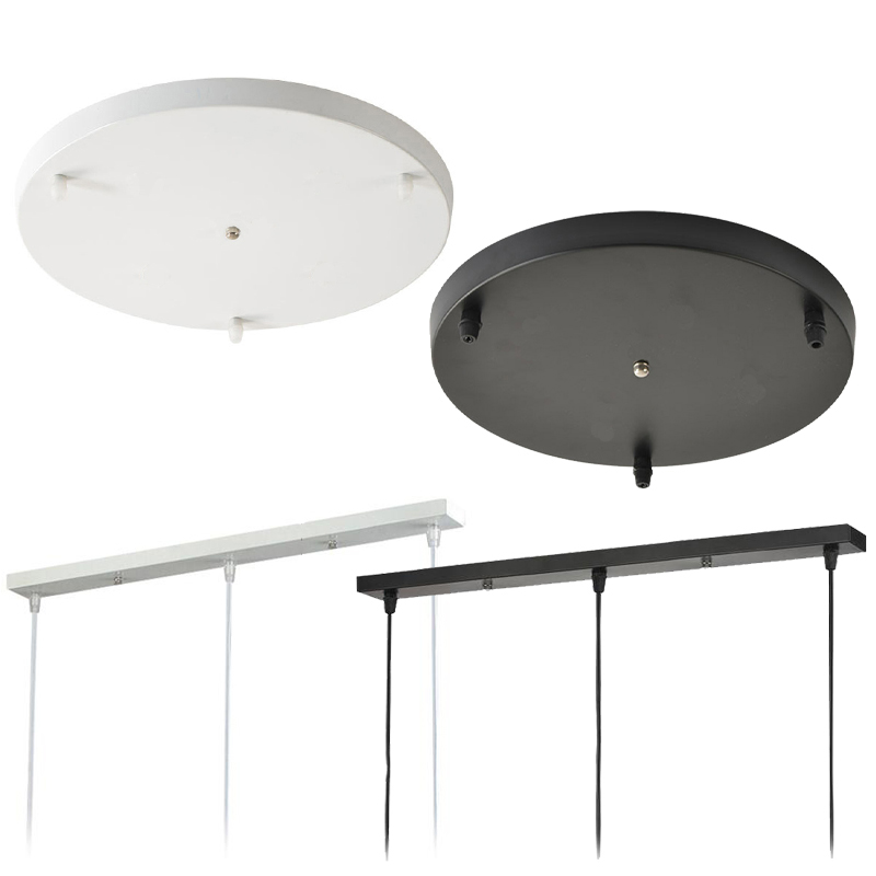 Diameter 30/50CM Black/White Ceiling Plate Round Rectangle Ceiling Mount Light Accessories For Pendant Lamp&Wall Light&hang Lamp