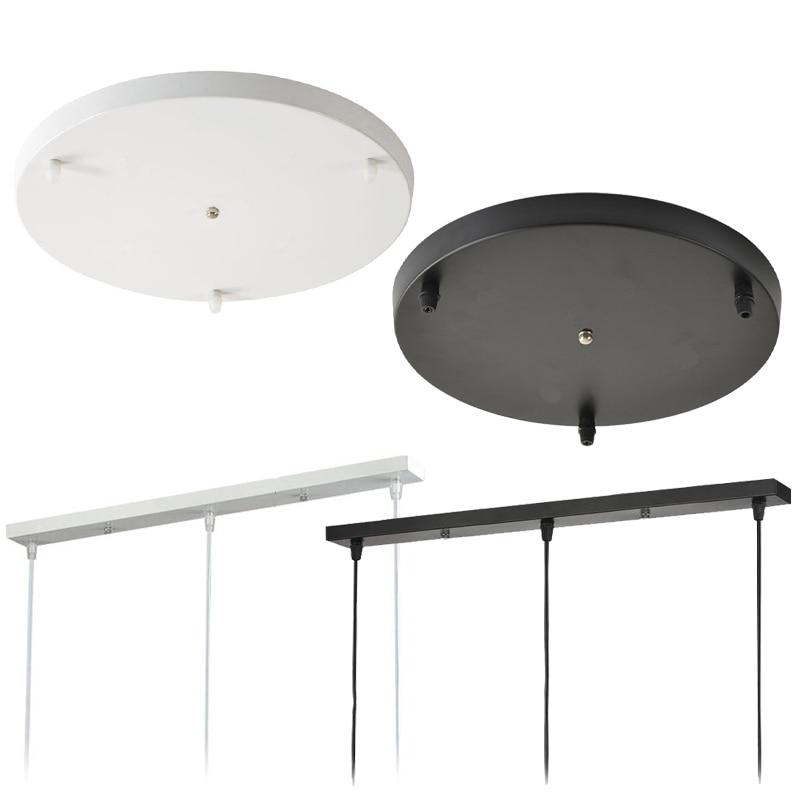 Diameter 30/50CM Black/White Ceiling Plate Round Rectangle Ceiling Mount Light Accessories For Pendant Lamp&Wall Light&hang Lamp